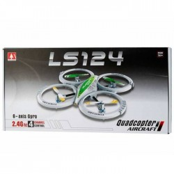 LS 124 6 Axis Gyro 4 Kanal 2.4GHZ QuadCopter
